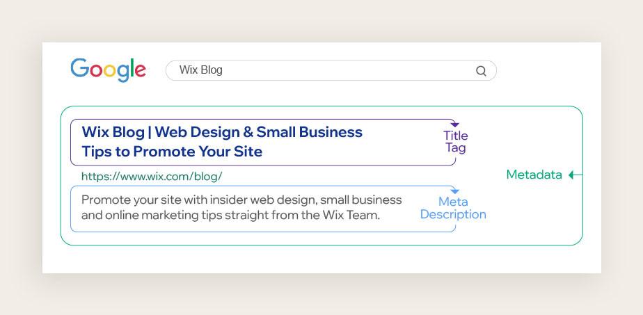 Beispiel und Beschreibung der Metadaten mit Title tag und Meta Describtion