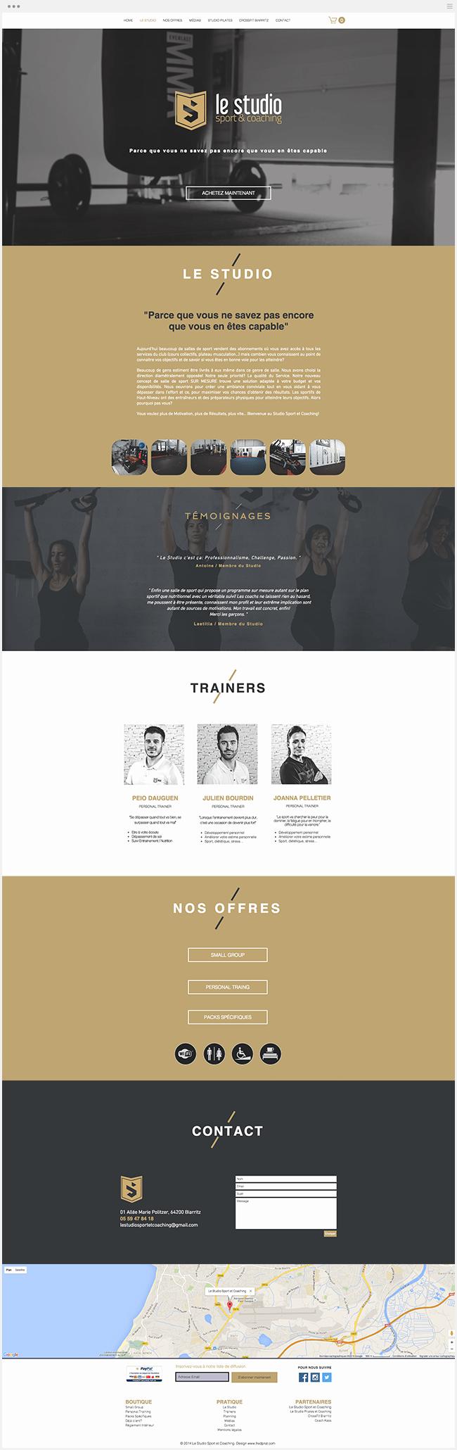 Le Studio Sport Site Wix