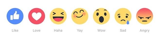Наш эмоциональный диапазон по мнению разработчиков Фейсбук.