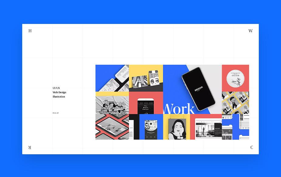 디자이너 폰두다의 포트폴리오 웹사이트 이미지