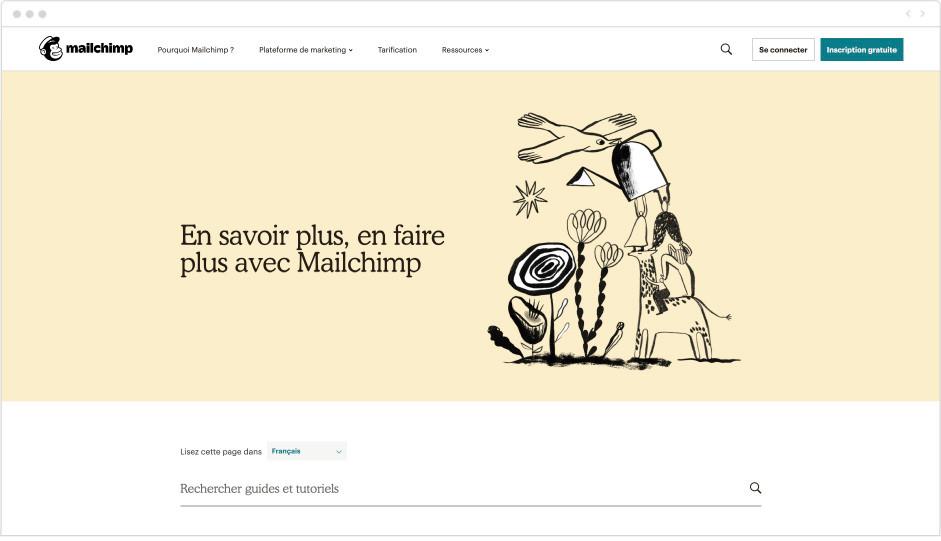 Mailchimp - outil marketing - Wix