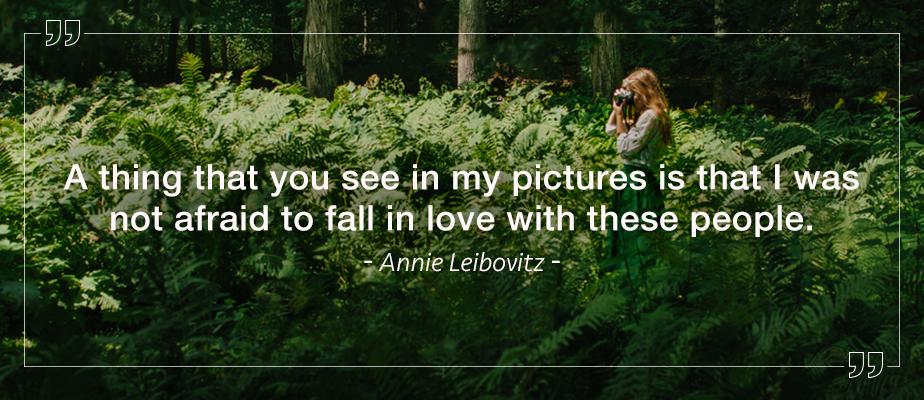 annie leibovitz photography quote