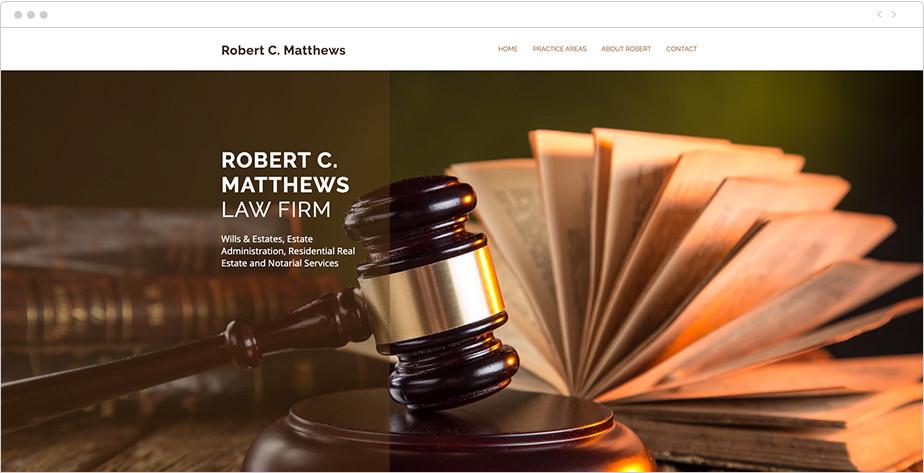 Best law firm websites Robert C Matthews
