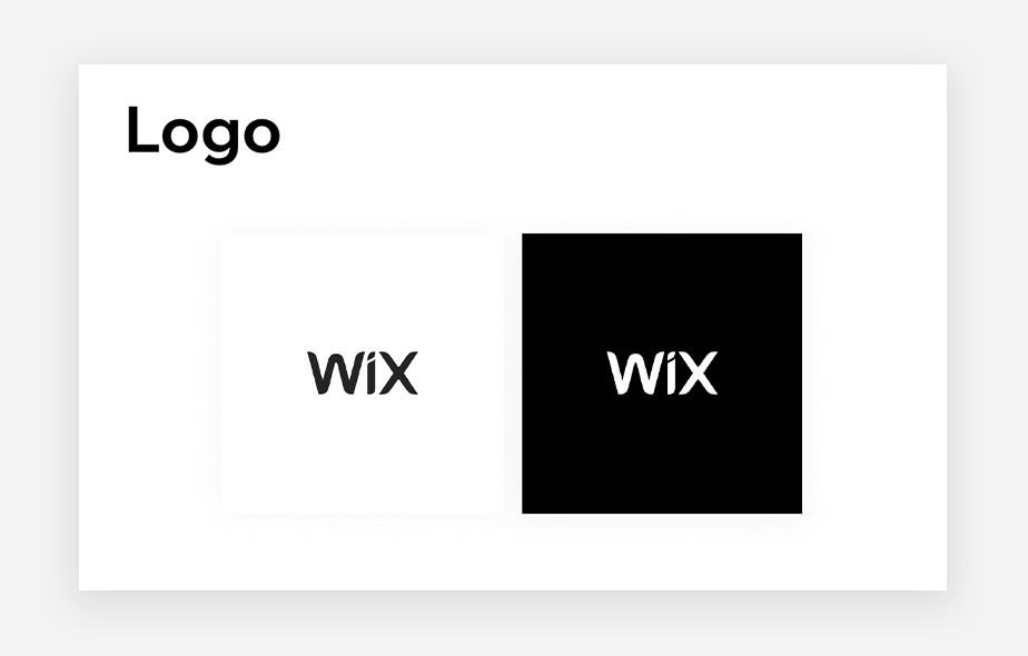 Duas versões do logo do Wix em branco e preto respectivamente