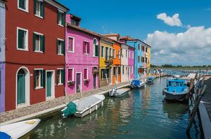 Colorful port village