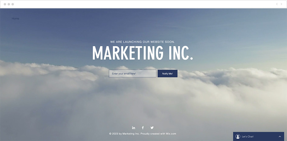 Marketing launch page free template