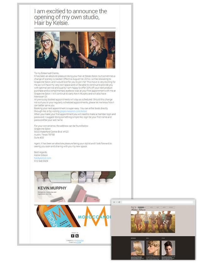 Kelsie Gibson _ newsletter Wix