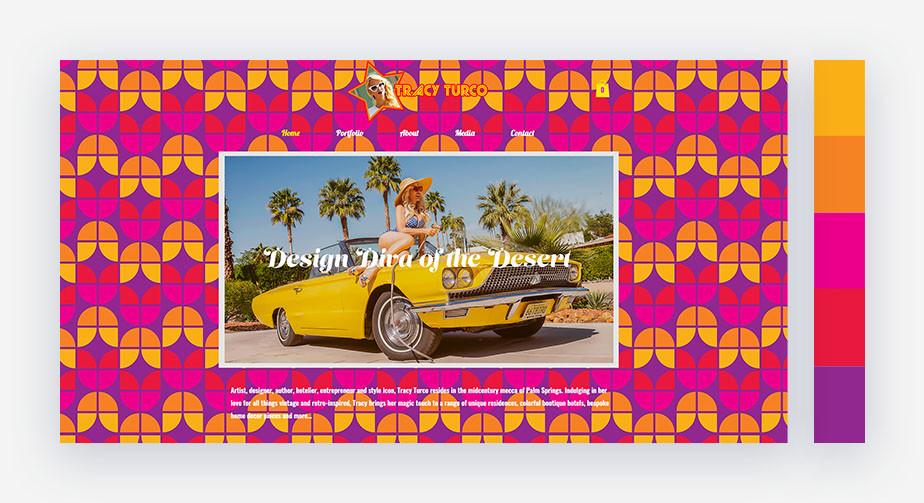 50 paletas de cores para o seu site: verão vintage