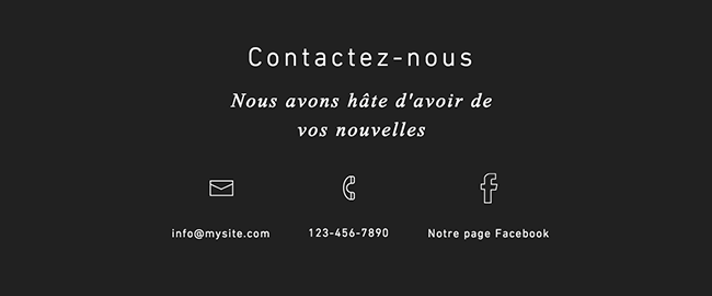 Bande Contacts