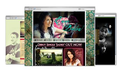 Sitios Web de Música creados con Wix