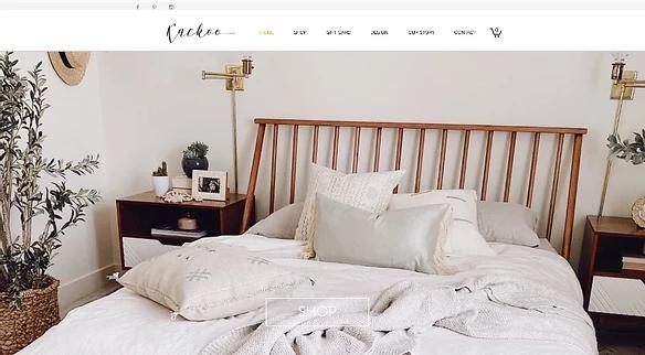 ev eşyaları satan bir e-ticaret sitesinin ana sayfası