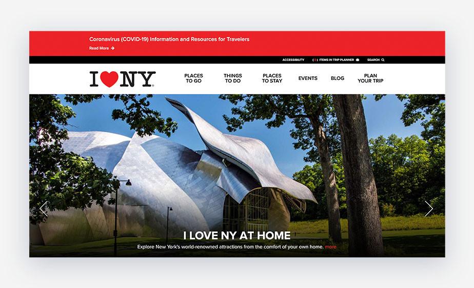 '아이러브뉴욕' 심볼을 통해 지리적 문화적 브랜딩을 강화한 이미지