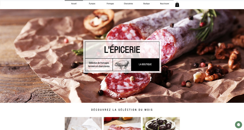 template épicerie en ligne