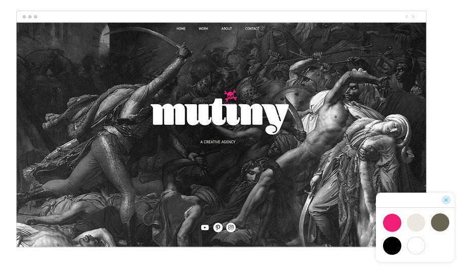 Mutiny Wix website