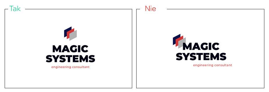 Wyrównaj wszystkie elementy logo w tym samym kierunku