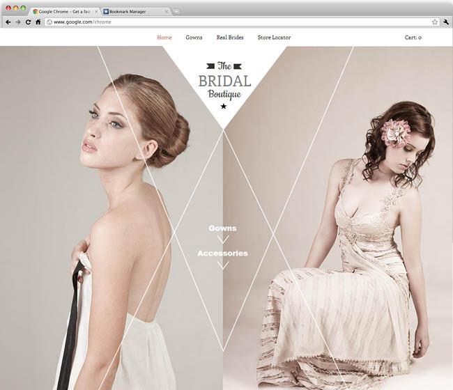 Шаблон сайта для свадебного магазина