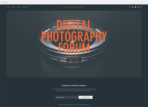 Template Wix Fórum de Fotografia Digital