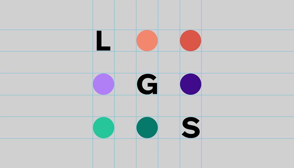 Bild mit farbigen Kreisen auf einem grauen Untergrund und dem Wort Logo