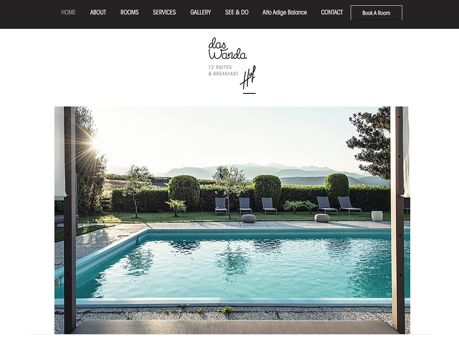 Hotel website design Das Wanda