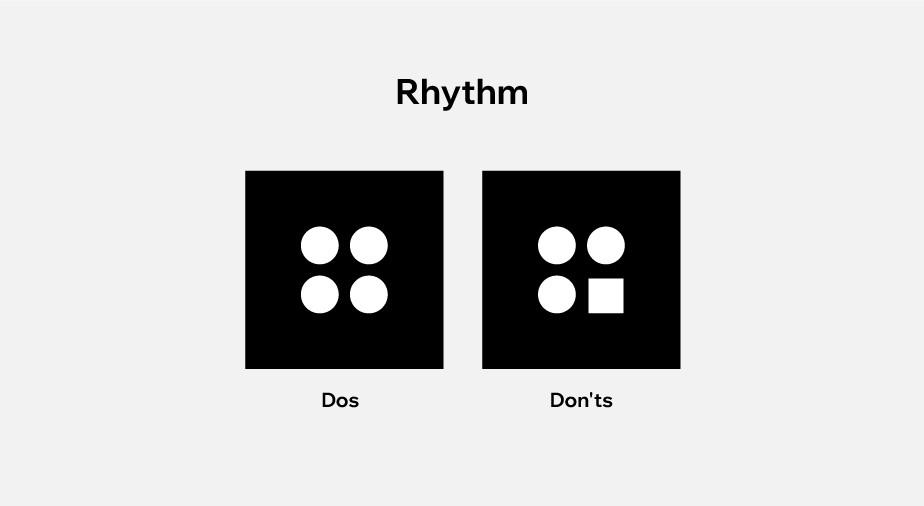 Ontwerpprincipes toegepast op webdesign: ritme