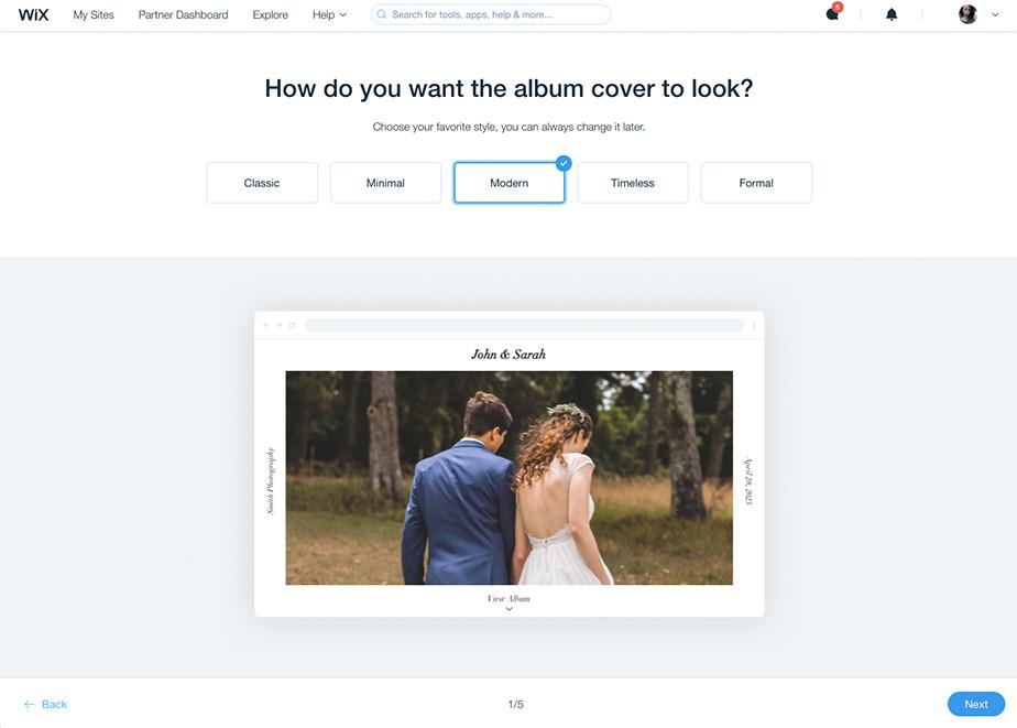 Udostępniaj zdjęcia w Albumach Wix