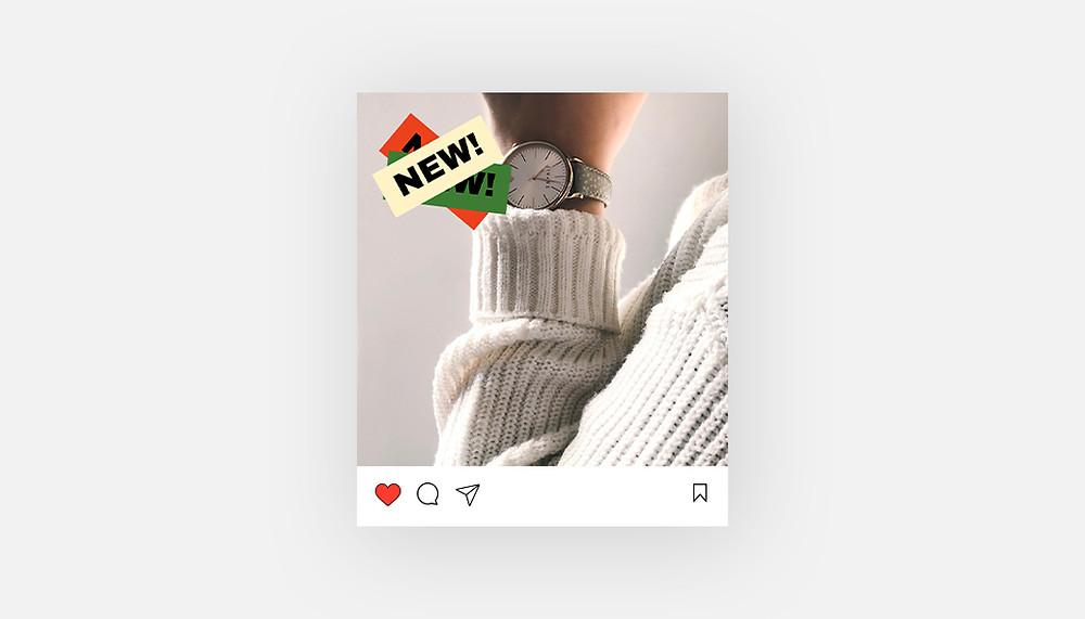 """""""Nieuw product"""" Instagram template"""