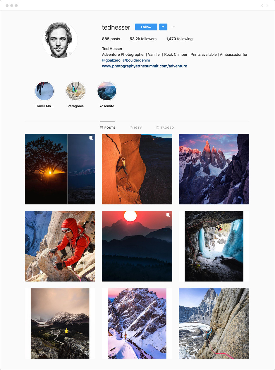 Ted Hesser - Photographes à suivre sur Instagram