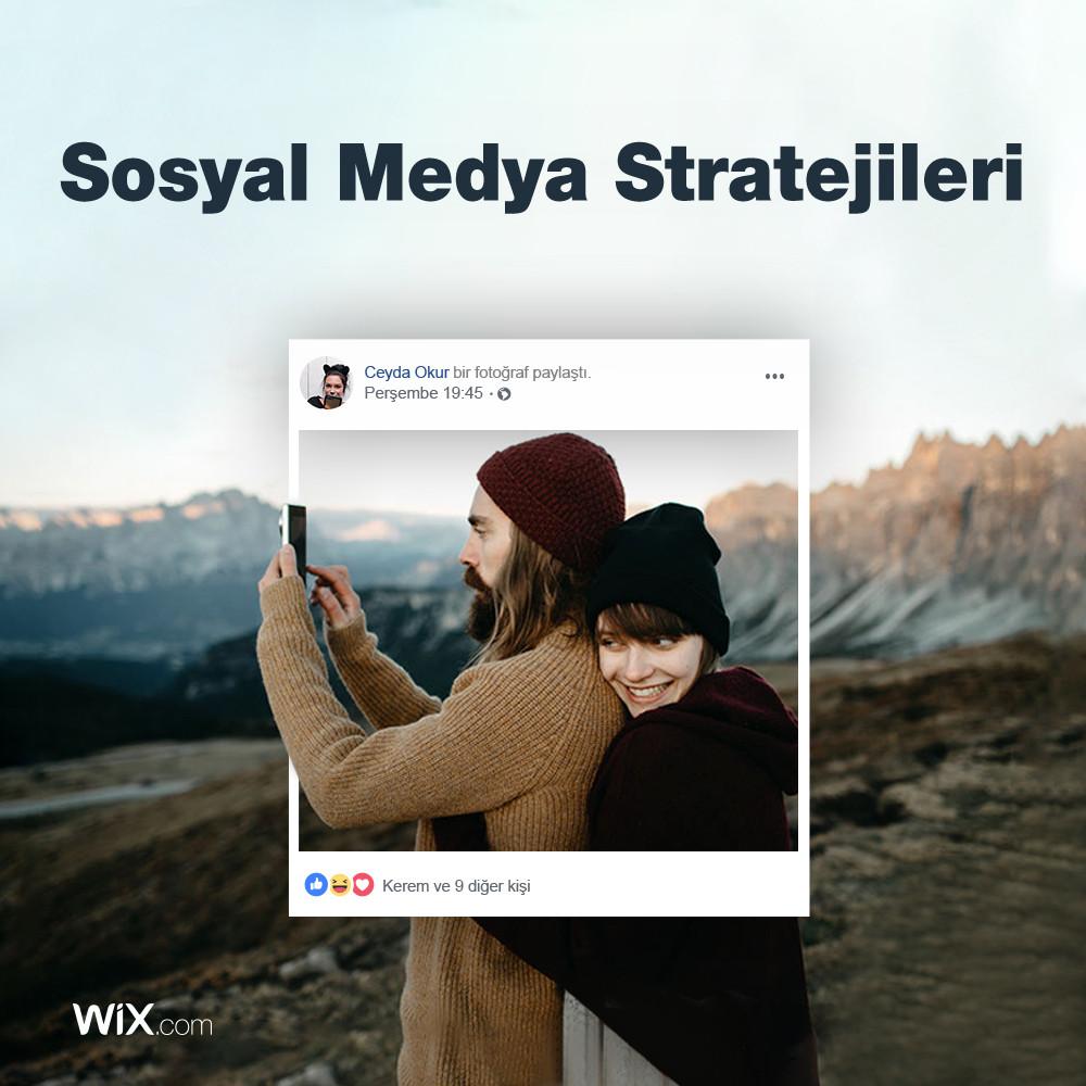 Wix'ten sosyal medya pazarlama stratejileri