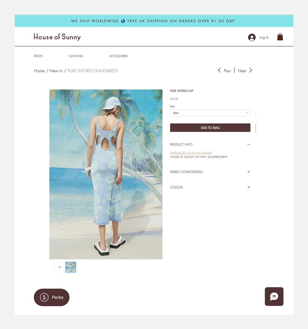 Strona główna sklepu online House of Sunny