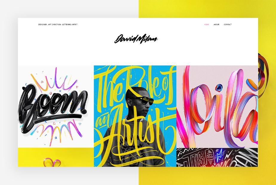 De beste portfolio website: David Milan