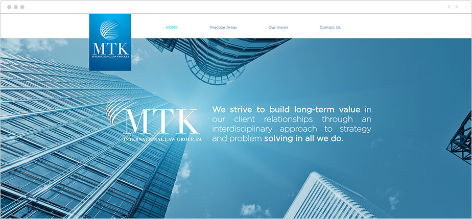 Best law firm websites MTK Law Group