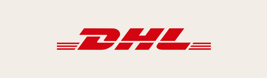 DHL Logo, ein Beispiel für ein modernes Logo