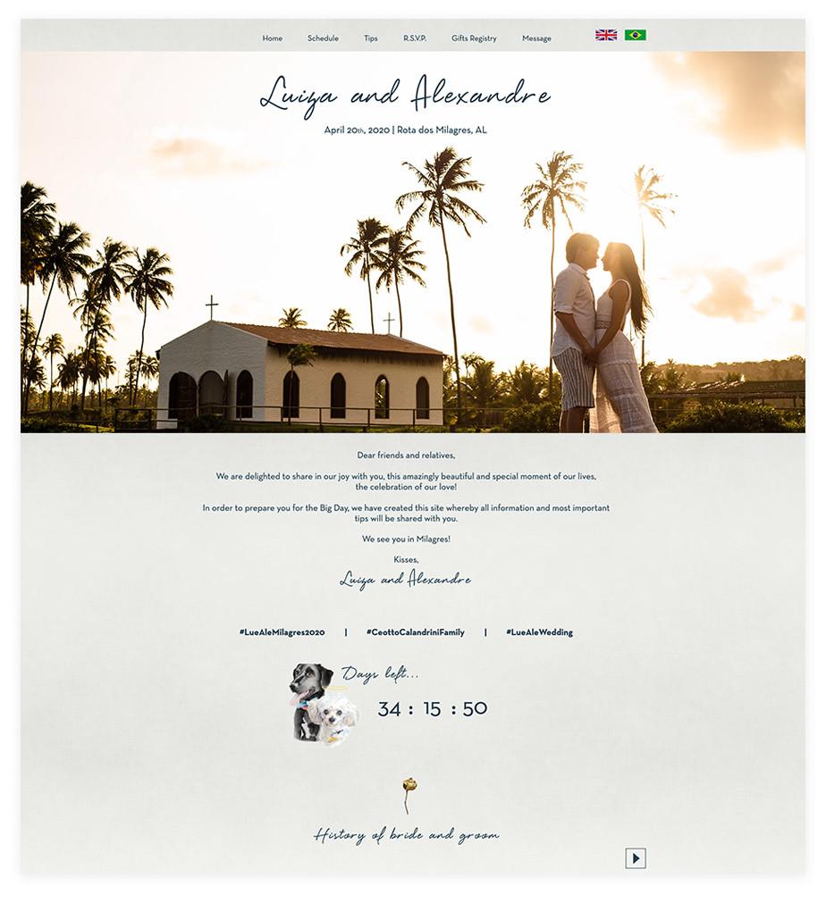 결혼 웹사이트 예시 이미지 루이자 알렉산드라
