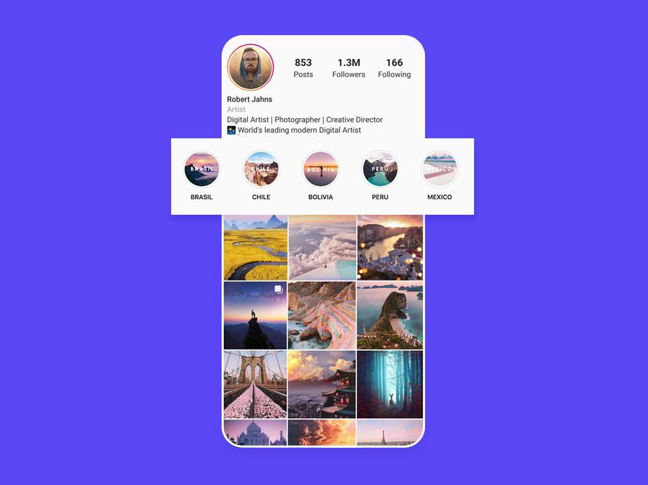 Zapisz Instagram Stories jako highlights