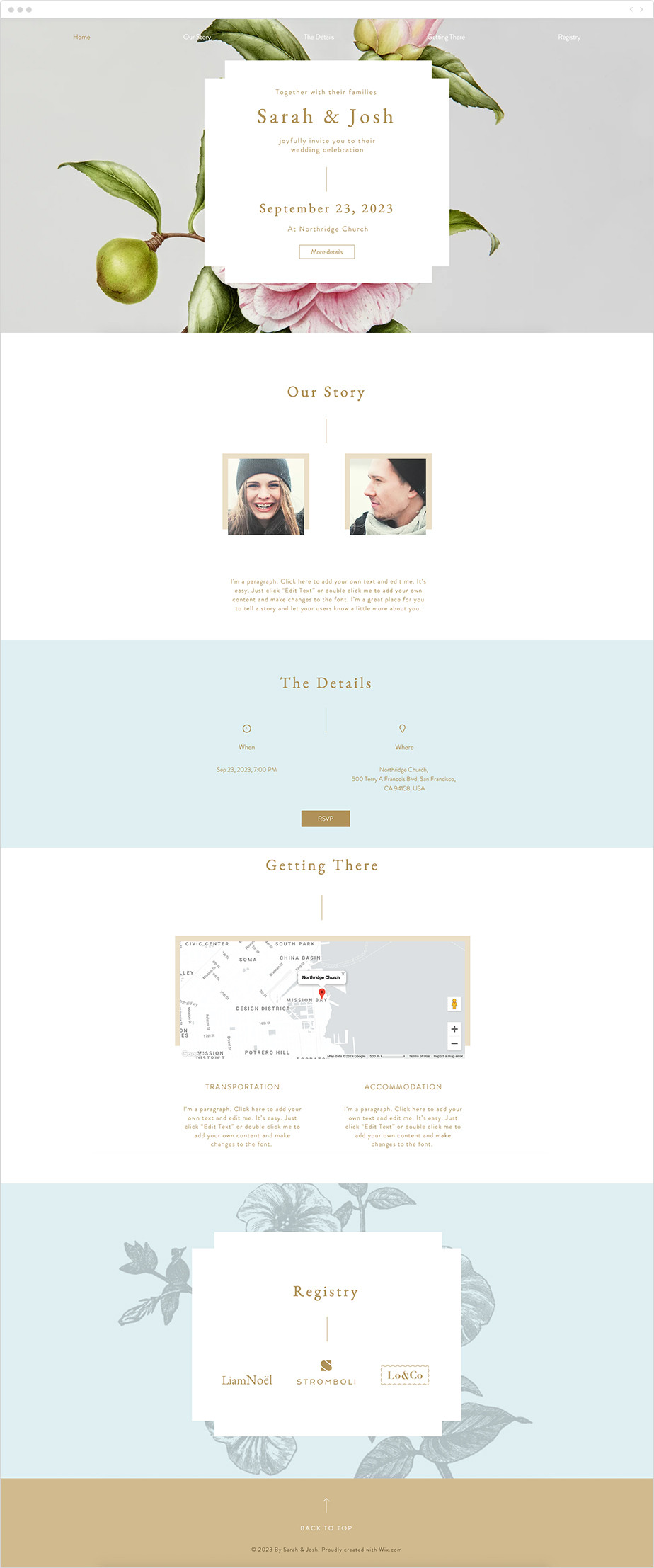 Site de mariage - template