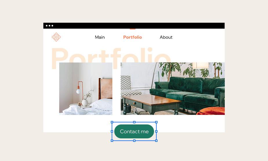 Przycisk na stronie internetowej