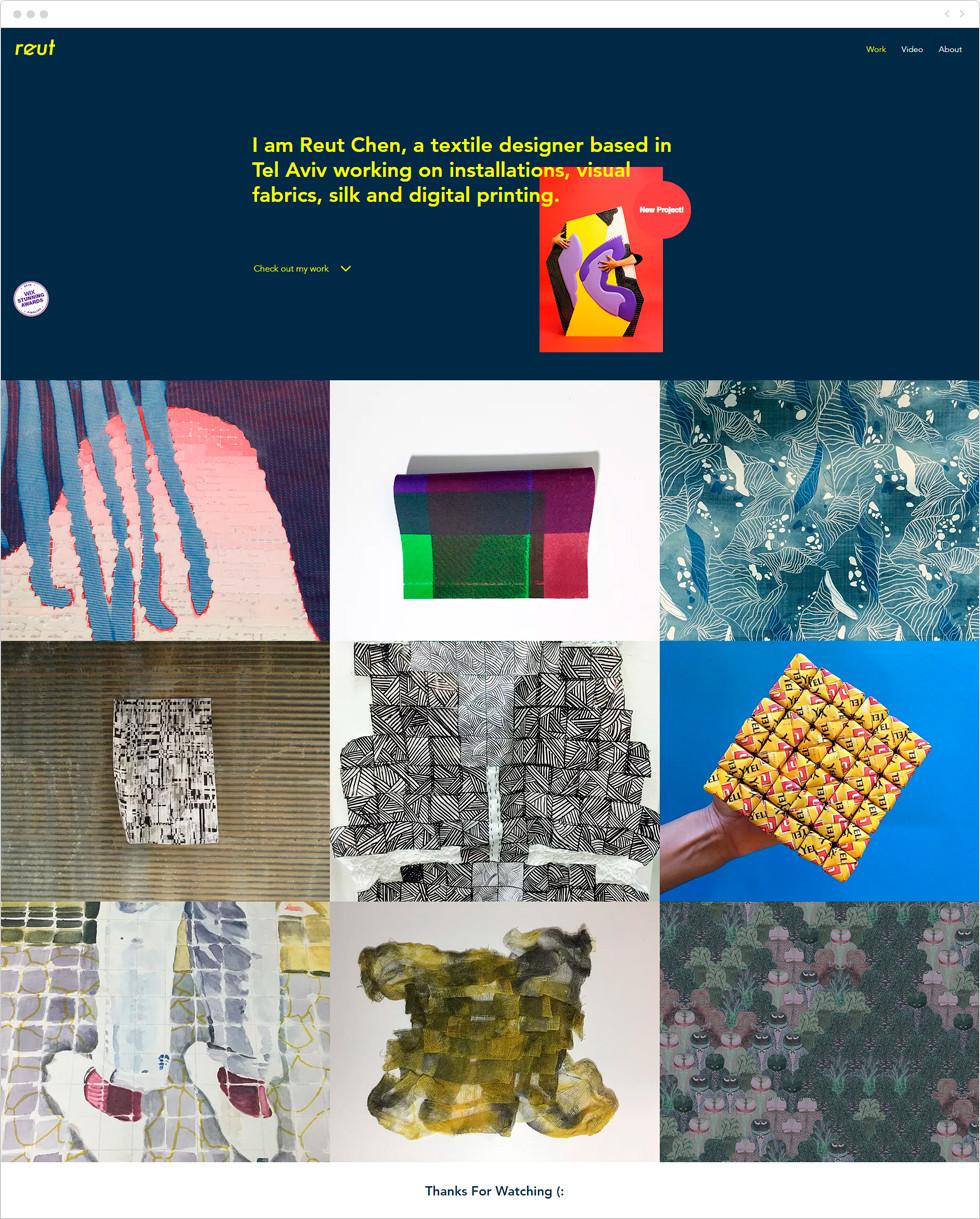 Designer porfolio examples: Reut Chen