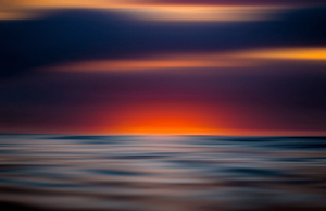 colorful sea sunset moved long exposure