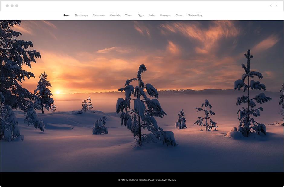 風景写真家サイト Ole Henrik Skjelstad