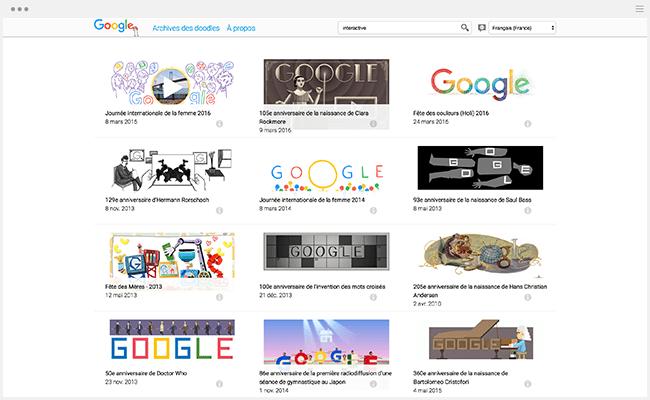 Google Doodles enfants