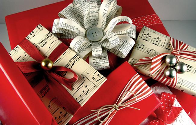 Papier cadeau - papier à musique