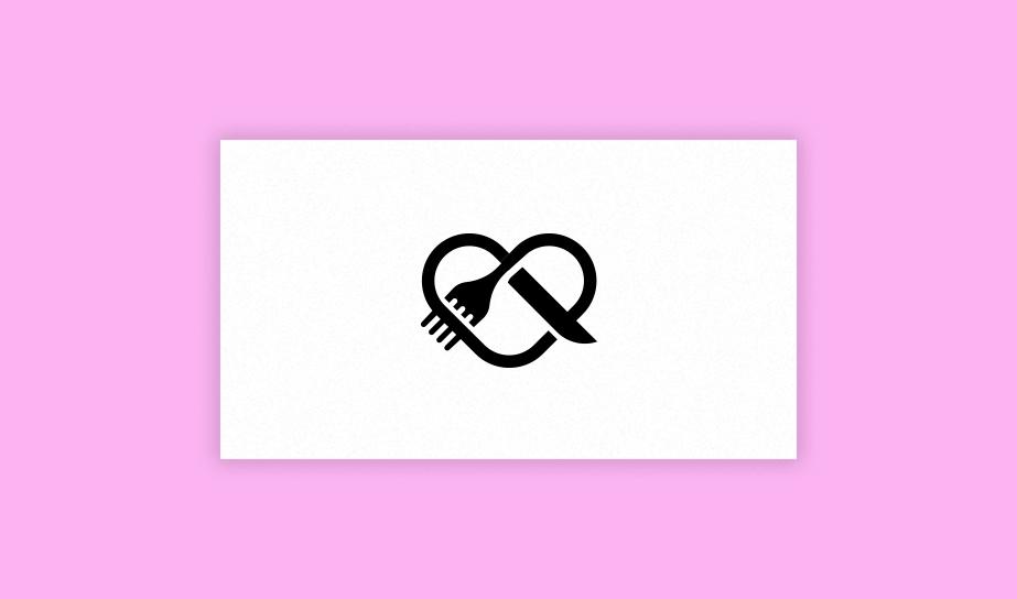 Logo einer Prezel mit einer Gabel als Logo-Beispiel für eine Bildmarke
