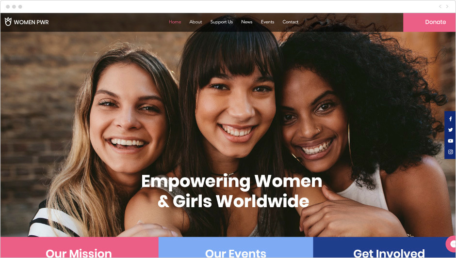 Women empowerment NGO template
