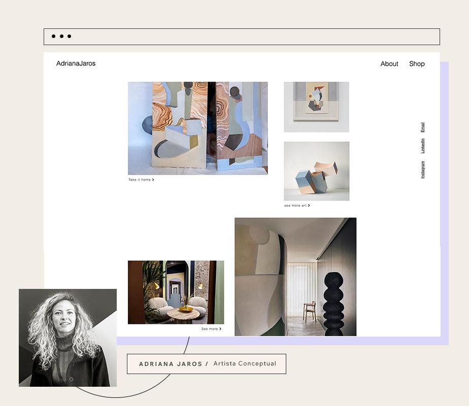 Página web de Adriana Jaros