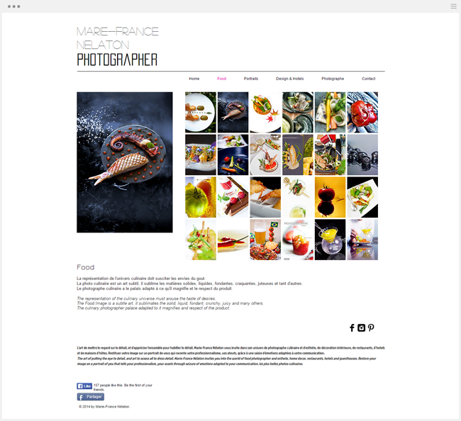 site photographie marie-france nelaton créé avec wix