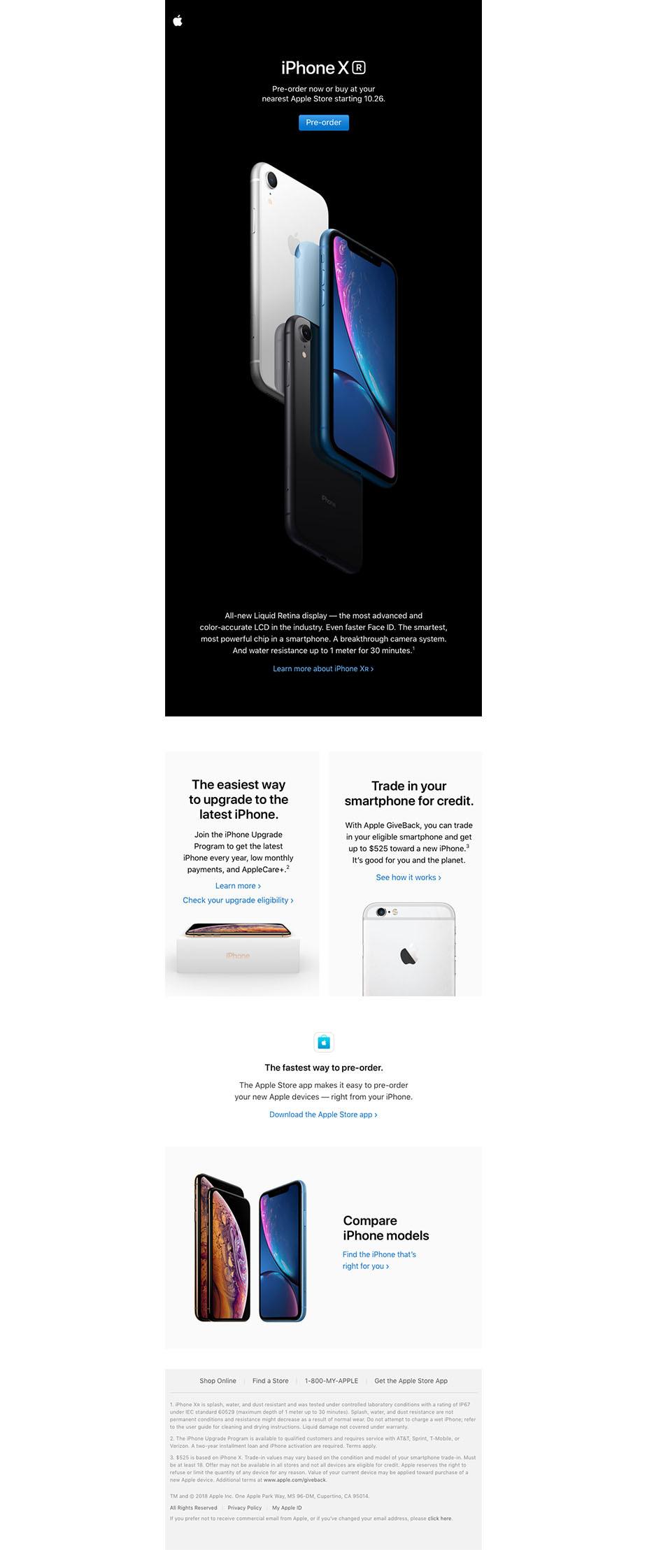 Apple newsletter design