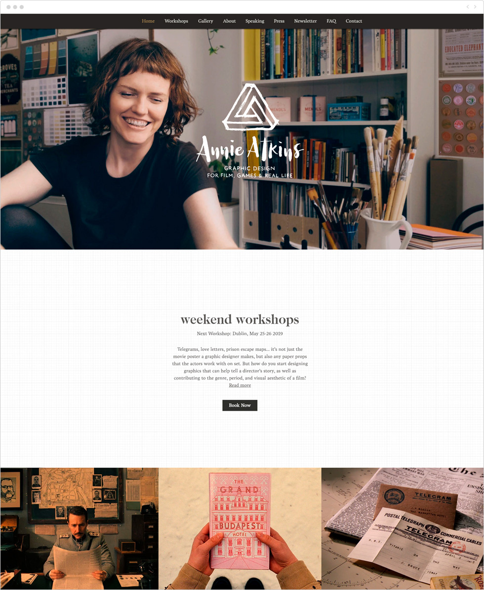 Designer porfolio examples: Annie Atkins