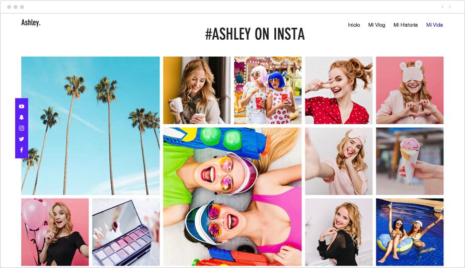 Ejemplo de integración de feed de Instagram en una página web
