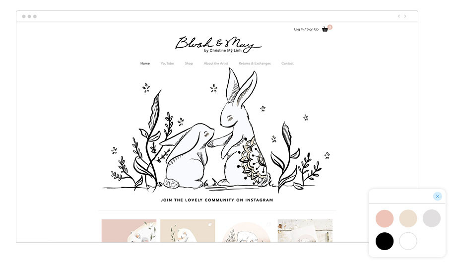 "Web de Wix ""Blush & May"""