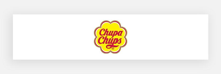 Примеры известных логотипов: Chupa Chups
